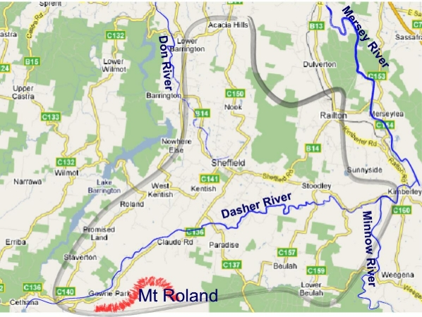 Mt Roland Rivercare Catchment